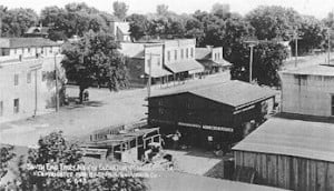Looking south from North elevator About 1906, Mondamin, Iowa