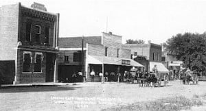 Looking East in Mondamin Iowa About 1910