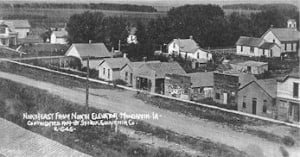 Looking Northeast from North Elevator About 1906, Mondamin, Iowa