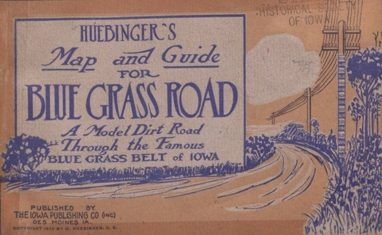 Huebinger's Map and Guide for Blue Grass Road