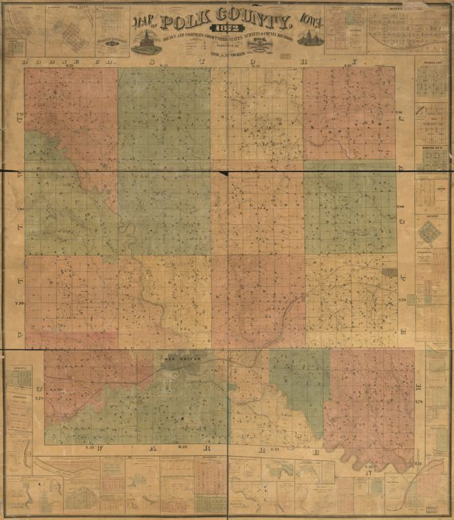 1872 Polk County Map